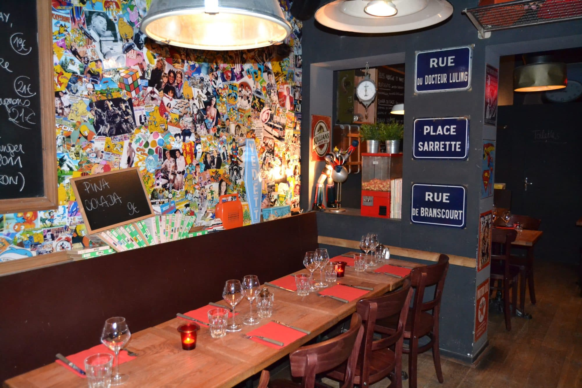 Décoration restaurant sympa à Bruxelles