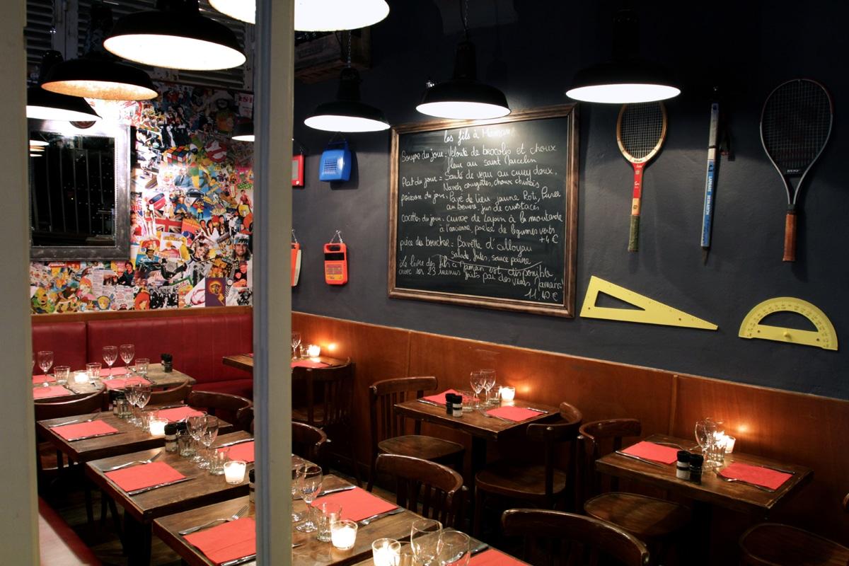 Salle ou terrasse de restaurant à Lyon