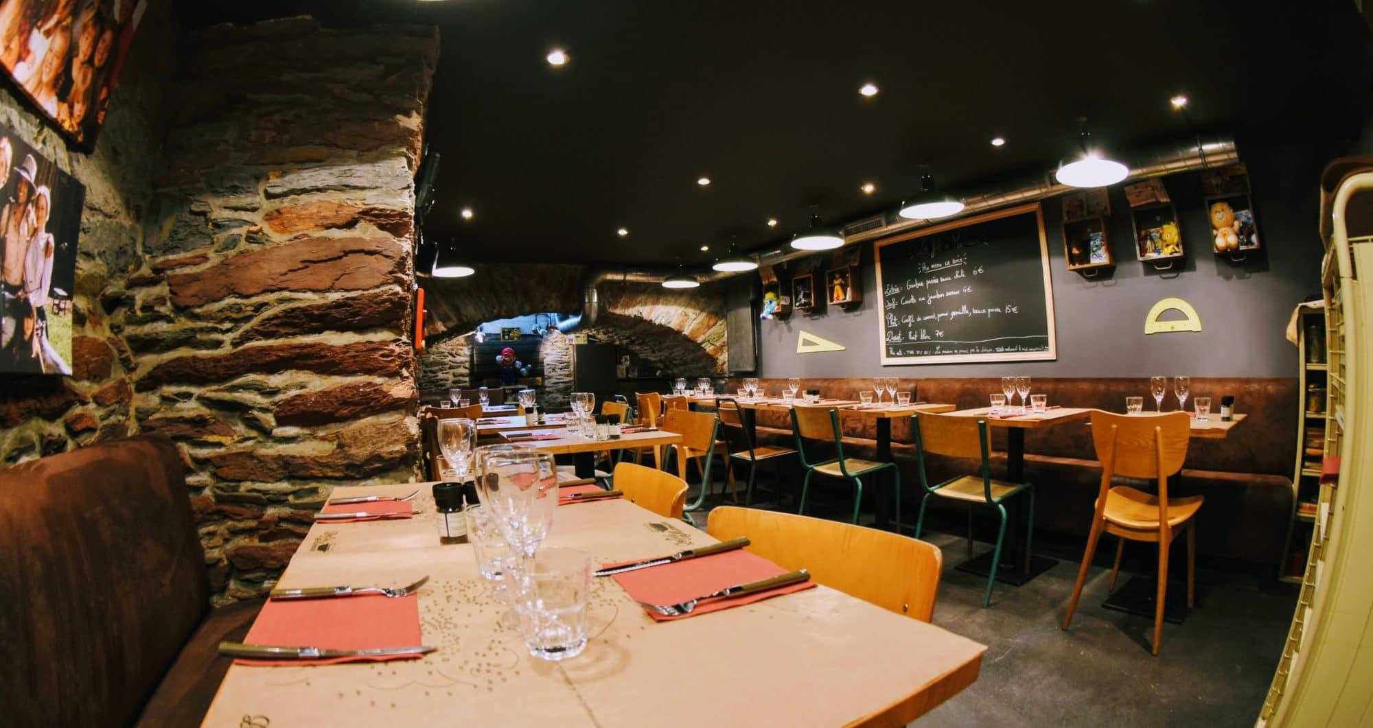 Décoration restaurant sympa à Rennes